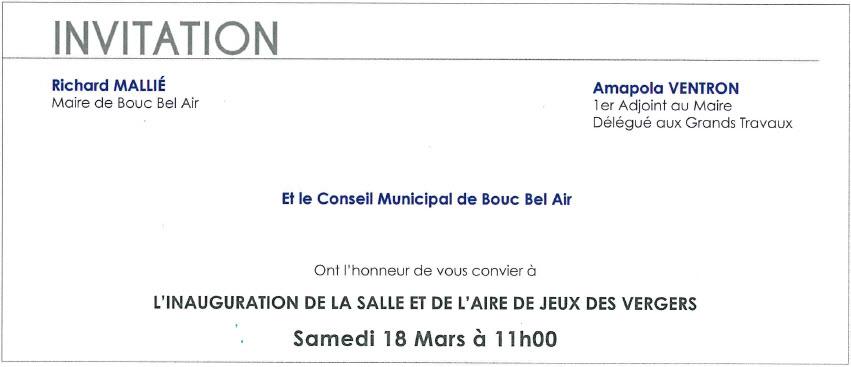 Samedi 18 Mars 2017 Visite Du Maire Et Inauguration De La Salle Et